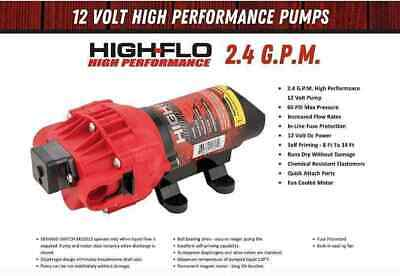 New Fimco 12 Volt 2.4 Gpm High-flo Pump 02100907a 5275703 5275497 5275087