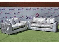 Brand new crushed velvet 3+2 seater sofa set💯top quality👏sale price🔥🔥fast delivery🚚🚚