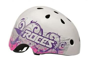 Roces Tattoo Aggressive helm wit/blauw/roze maat 52 56