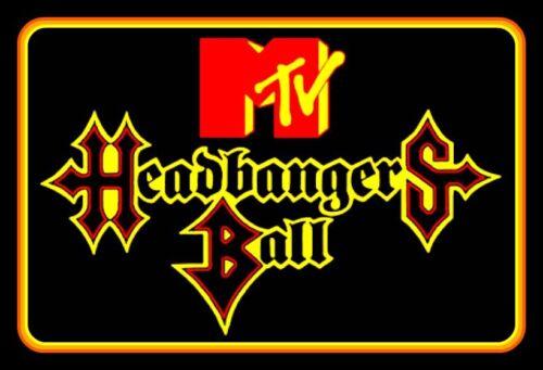 "5"" Classic MTV Headbangers Ball vinyl sticker. Heavy Metal decal for car, laptop"