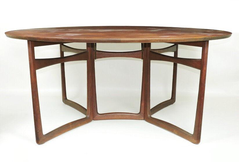 Peter Hvidt for France & Son 1960s drop leaf teak dining table For restoration / re-polishing.