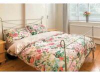 Free next double bed frame & reylon ortho mattress
