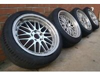 """CHEAP 18"""" BBS LM 5X120 BMW ALLOY WHEELS AND TYRES"""
