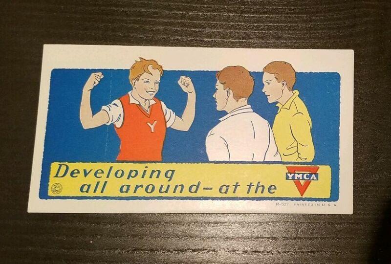1924 VINTAGE YMCA BLOTTER DEVELOPING BICEPS ALL AROUND