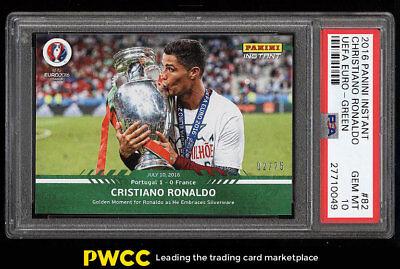 2016 Panini Instant Uefa Euro Green Cristiano Ronaldo  25  82 Psa 10 Gem  Pwcc