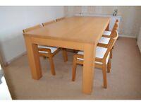 Large Oak dining table (Fishpools)