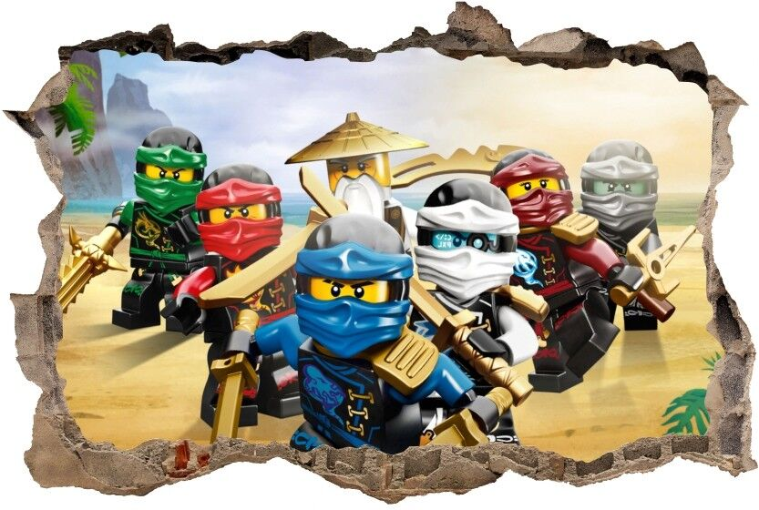 Wandaufkleber Loch In Der Wand Lego Ninjago Aufkleber