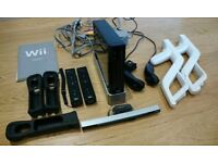 Nintendo Wii console with all accessories and 2 controllers