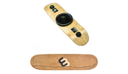 Whirly Board Spinning Balance Board and agility trainer w/ cork rubber grip tape