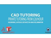 CAD TUTORING, SOLIDWORKS TUTORING, MECHANICAL ENGINEERING TUTORING, FEA, CFD, ANALYSIS, AUTOCAD