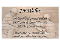Bricklayer / Small Builder. Remedial Works / Small Jobs