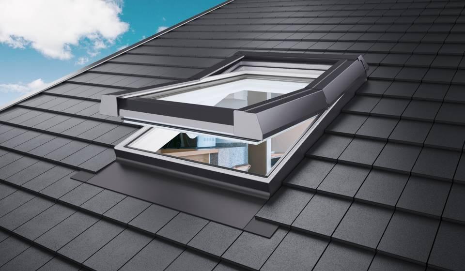 """AFG Kunststoff-Dachfenster """"SKYLIGHT"""" mit Eindeckrahmen mit Rolloaktion"""