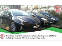 Own the car from *220pw* incl. insurance PRIVATE HIRE drivers can rent 65 66 16 plate Toyota Prius