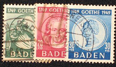 Französische Zone Baden Nr. 47-49 gestempelt