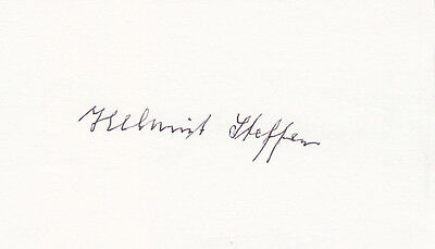 German Knights Cross Helmut Steffen signed 3x5 CARD AUTOGRAPHED