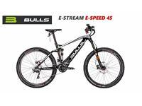ELECTRIC FULL SUSPENSION MOUNTAIN BIKE: BULLS E-STREAM EVO 45 FS SPEED