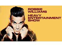 Robbie Williams - 2 tickets (£70 each) - Edinburgh - Friday 9th June