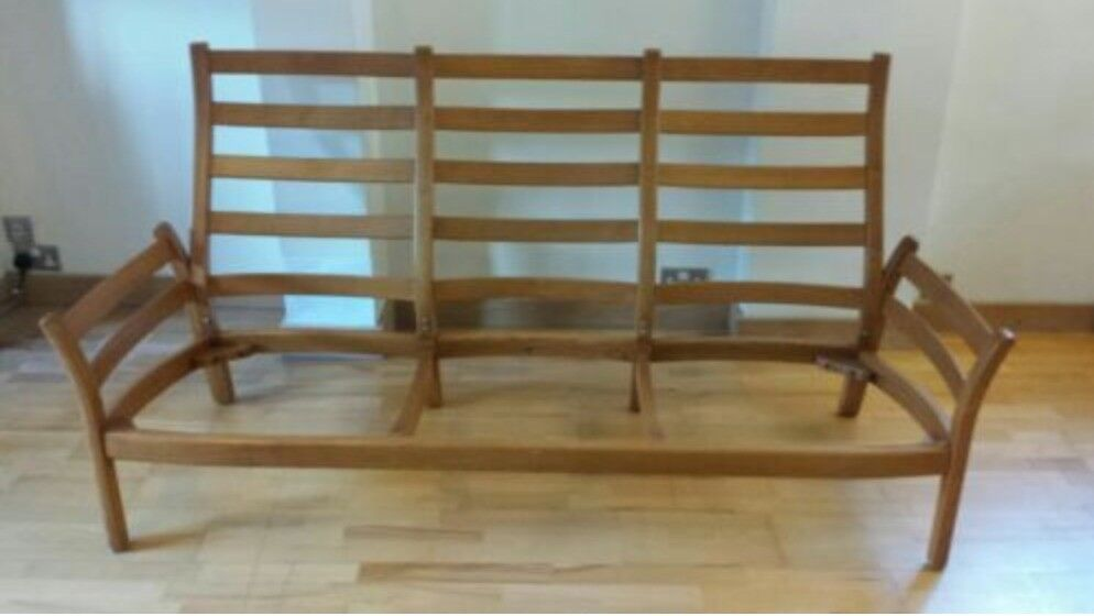 Ercol Saville Mid Century 3 Seater Sofa Frame And Base