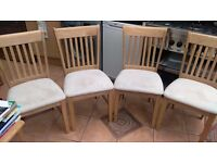 NEW Lincoln Dining Chairs with Beige Seatpads