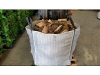 Bulk bag of seasoned hardwood firewood logs £60 or two bags for £100 free shipping and stacking