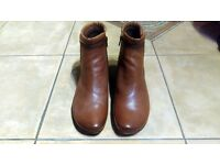 *BRAND NEW* Gabor Sound Zip Up Ankle Brown Boots - Size 6.5 - FREE P&P