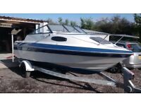 SUNBIRD 188 CC CUDDY CABIN WITH INBOARD OMC ENGINE AND TRAILOR SPEEDBOAT BAYLINER SEARAY MAXUM BOAT