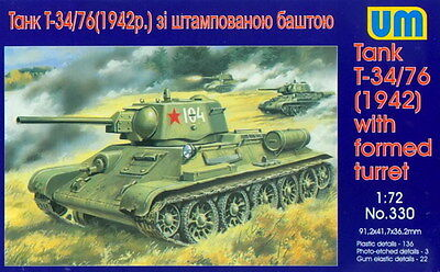 UM 1/72 330 WWII Soviet Red Army T34/76 Heavy Tank M.1942 w/Formed Turret