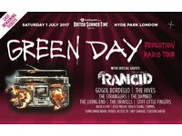 Green Day BST festival Sat July 1st 2 x PRIORITY entry tickets