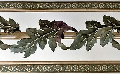 Acanthus Leaf Scroll Scrolling Architectural Scrolls Wall Wallpaper Border