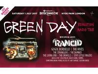 Green Day BST VIP summer garden early entry