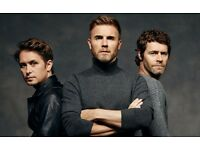 2 x Take That Standing tickets for Newcastle Metro Radio Arena. 8 May 2017 Face Value.
