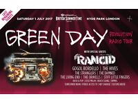 1 x Green Day British Summertime Hyde Park London