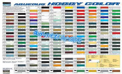 Mr Hobby Gunze Aqueous Color Acrylic H1 H100 Colours New Model Paint 10Ml Freesp