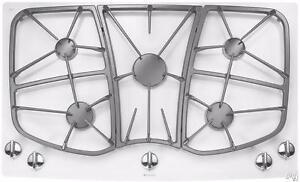 Plaque de cuisson blanche au gaz 36'', Fonte lourde, Jenn-Air