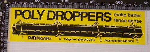 VINTAGE DM PLASTICS SOUTH AUSTRALIA SOUVENIR PROMO ADVERTISING BUMPER STICKER