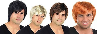 New Mens Adult Male Guy Boy Band 60s 70s 80s Short Wig For A Fancy Dress Costume (80 Costumes For Guys)