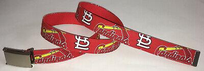St Louis Cardinals Apparel - St. Louis Cardinals BELT & Buckle Baseball Team MLB Fan Game Gear Apparel MO New