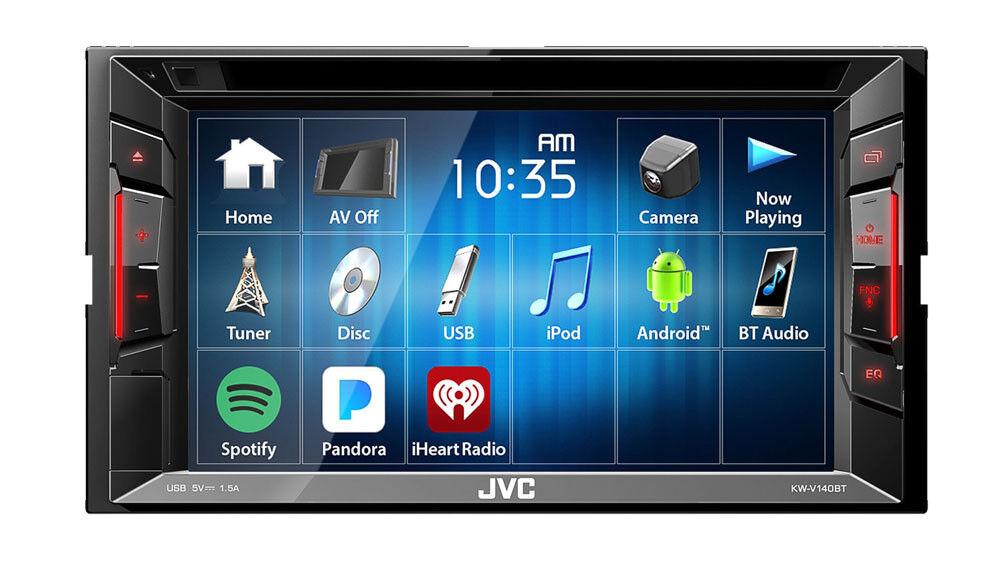 "JVC KW-V140BT 2-DIN 6.2"" DVD CD Bluetooth Touchscreen Stereo"