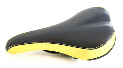 VELO Mountain Road Bike Bicycle Seat Saddle Black Yellow BMX