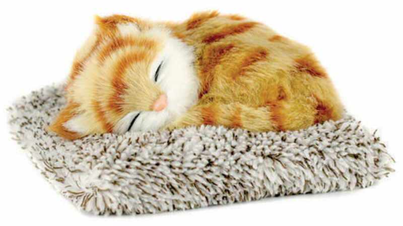 Orange Tabby Perfect Petzzz Mini Snoring Cat Stuffed Animal