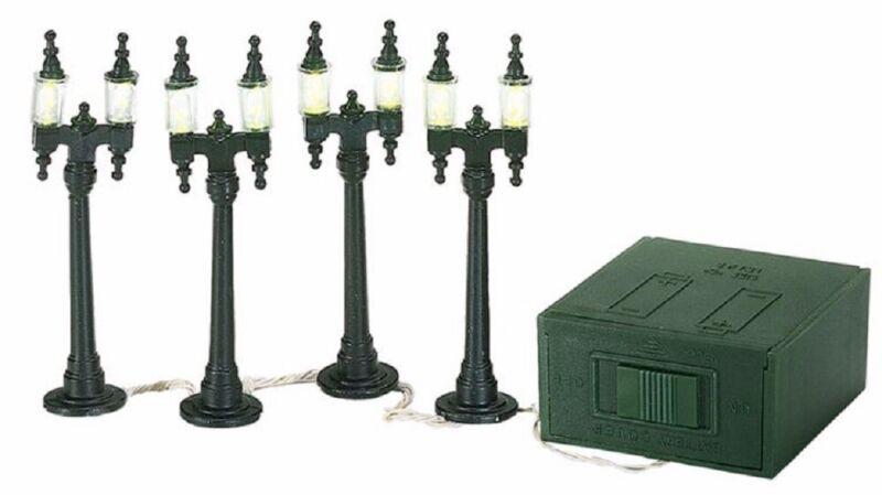 Department 56 Snow Village Double Street Lamps Accessory Figurine Set 4 5659960