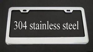 QUALITY 304 STAINLESS STEEL HEAVY DUTY METAL LICENSE PLATE FRAME TAG BORDER
