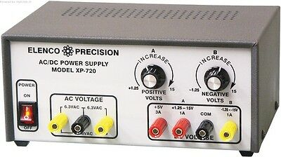 Elenco Xp-720k Triple Acdc Power Supply Kit-solder Version Special