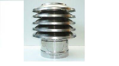 Campana de Aleta Parte Superior Chimenea Tapa Acero Inox. 80mm