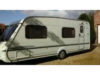 Abbey Aventura 330 -6 berth fixed bunks caravan/ motor mover and 2 awnings