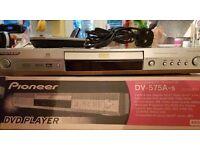 PIONEER DV-575A SACD SUPER AUDIO CD MP3 DVD-AUDIO PLAYER + REMOTE CONTROL BOXED