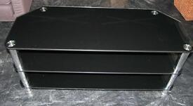 "Black glass TV cabinet 45""wide for large TV"