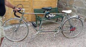 531 CLAUD BUTLER VINTAGE TOURING TANDEM BIKE - a classic in need of TLC and Refurbishment