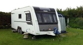 Elddis Crusader Super Sirroco 2014 Touring Caravan. Immaculate condition, only 40miles. FSH