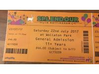 4 x Splendour tickets £100